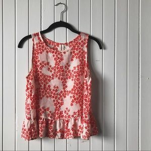 Tops - red floral tank